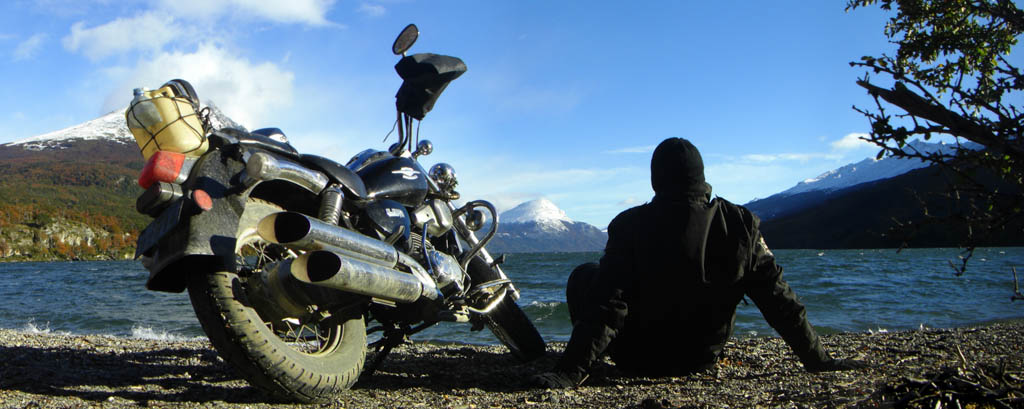 Lago Roca in Ushuaia - Motorcycle Travel Gear