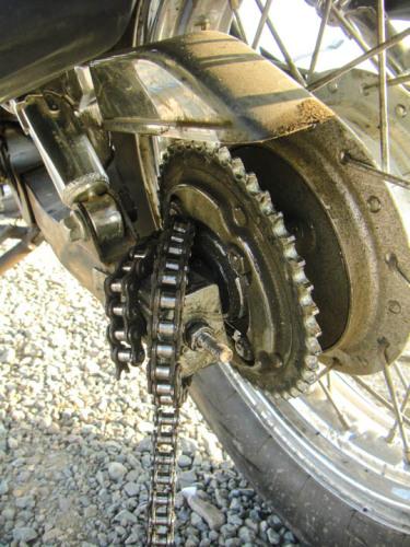 Broken motorcycle chain