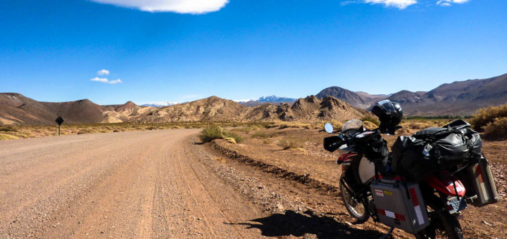 KLR 650 in the Argentine Patagonia