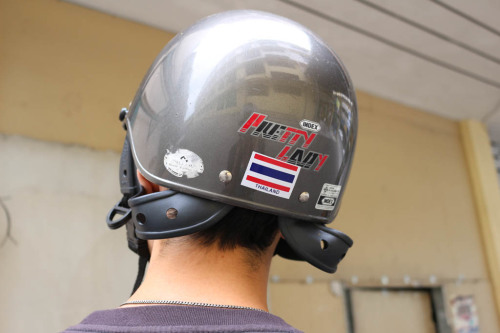 Pretty Lady motorcycle helmet in Thailand
