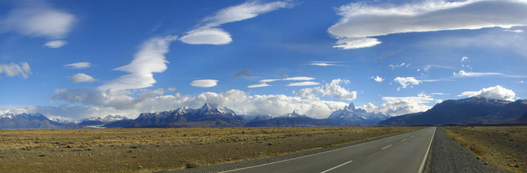 The Road to El Chalten in the Patagonia