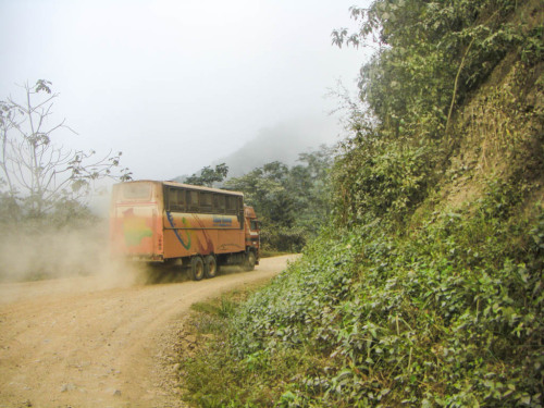 Truck-bus hybrid on the Yungas road