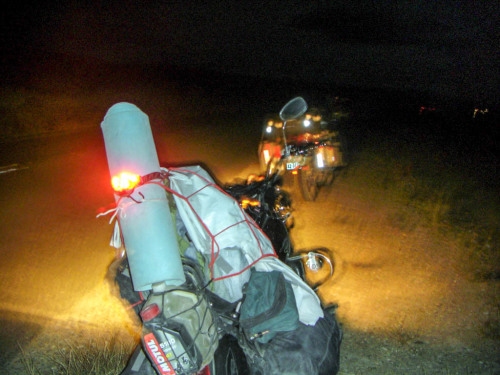 Using a headlamp as a tail light