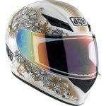 AGV K3 Flowers Helmet - White/Gold