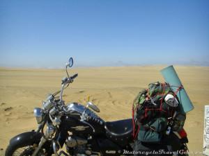 Desert as far as the eye can see.