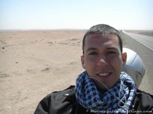 Taking a break in the desert.
