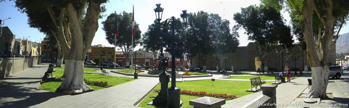 Main plaza in Moquegua.