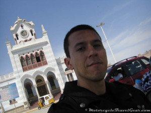 At Pisco's town plaza