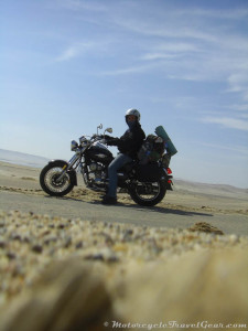 Crossing the Paracas Natural Reserve.