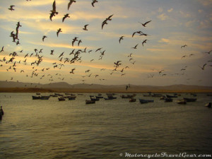 End of day at Lagunillas in Paracas