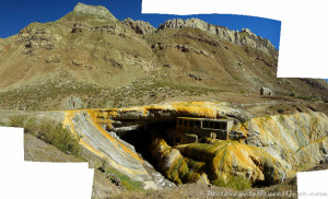Bridge of the Incas. Sorry about the poor stitching.