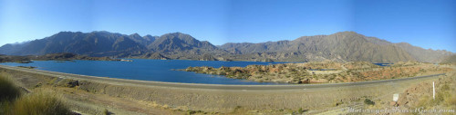 Beautiful lake in Potrerillos.