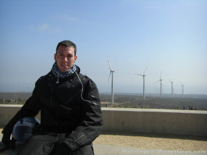 Overlooking the wind farms.