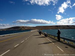 Crossing the Corral de Piedra bridge.