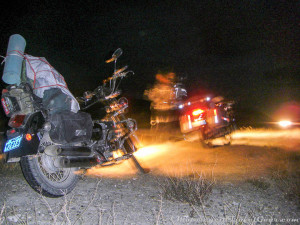 Riding without a tail light.