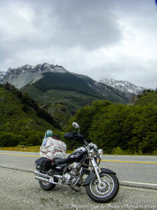 Mountains and motorcycles.