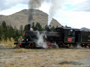 La Trochita. The cute little train that leaves Esquel. I took pictures of it while it took pictures of me.